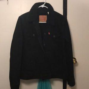 Black Levi's Sherpa jacket
